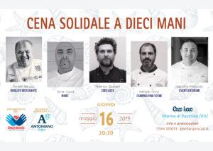locandina cena a 10 mani 2019