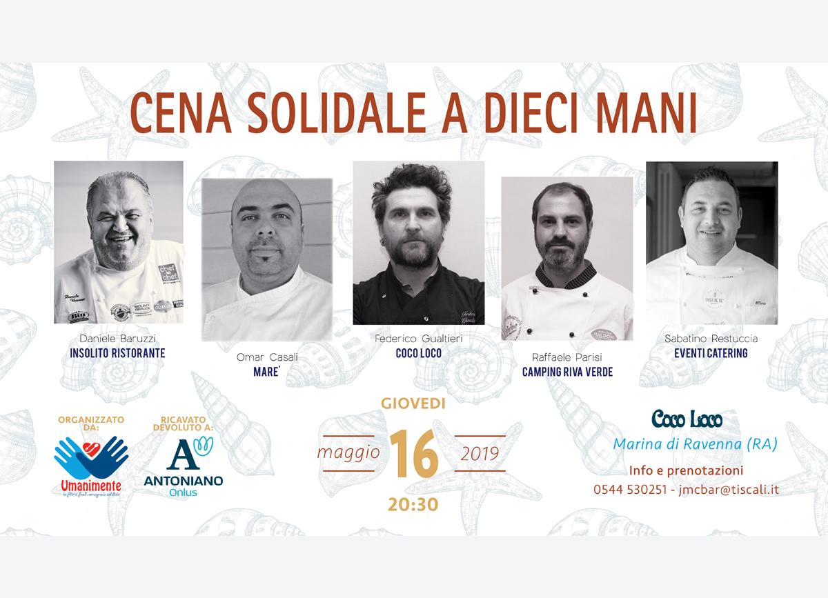 Locandina cena a 10 mani edizione 2019